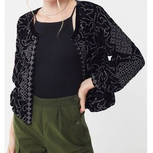 Urban Outfitter Margeaux Velvet Embroidered Jacket
